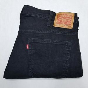 Levis 569 Black Jeans 38x32 Waterless